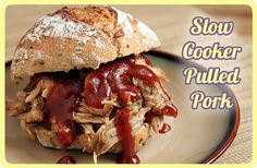 Slow Cooker Pulled Pork with 3 Different Homemade BBQ Sauces
