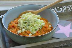 Couscous-Salat mit Tomate, Petresilie, Gurke und Feta gemacht mit Thermomix, erfrischend und lecker