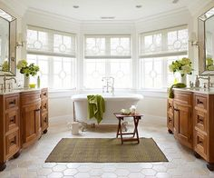 In a recent survey by the National Association of Home Builders, prospective homeowners ranked ceramic tile as their top choice for bathroom flooring: http://www.bhg.com/bathroom/type/master/master-bathroom/?socsrc=bhgpin053114awarmfloor&page=10