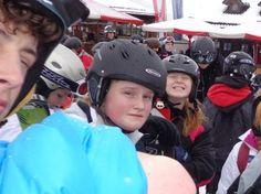 Big girl skiing in Austria