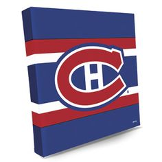 """CANVAS LOGO PRINT - MONTREAL CANADIENS  Product # NT18301 $39.98 CAD - For any hockey fan, these bright and colourful NHLr logos on premium stretched canvas make the perfect gift!  Liven up your FAN-cave or office with a shout-out to your favourite team.  14""""L x 14""""W"""