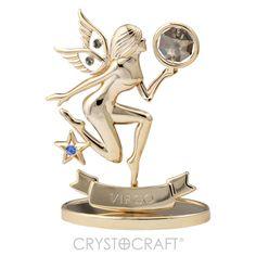 Símbolo do Zodíaco – Virgem banhado a ouro 24K com cristais SWAROVSKI