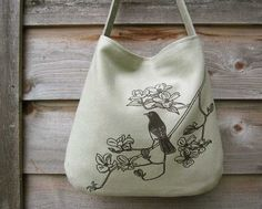 bird etsy purse