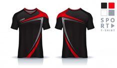 Sport Shirt Design, Sports Jersey Design, T Shirt Sport, Shirt Template, Customise T Shirt, Apparel Design, Shirt Sleeves, Sport Outfits, Shirt Designs
