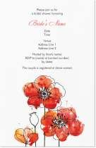 Co Shower paper invites? blossom bridal shower Invitations & Announcements