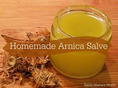 Arnica salve is a must have in any natural first aid kit. My homemade arnica salve recipe is easy to make and works wonderfully. Homemade Sunscreen, Natural Sunscreen, Natural Home Remedies, Herbal Remedies, Health Remedies, Wintergreen Essential Oil, Essential Oils, Oil Cleansing Method, Salve Recipes