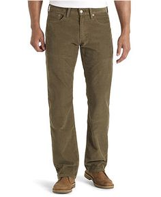 Levi's Jeans, 514 Slim Straight Worn In Corduroy, Ivy Green - Mens Jeans - Macy's