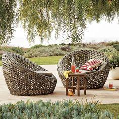 Beau Montauk Outdoor Nest Chair   Antique Palm
