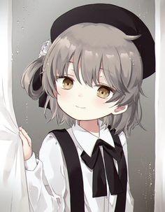 Brown hair and eyes anime girl