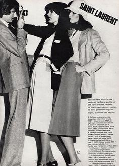 Yves Saint Laurent, L'Officiel - February 1976, Photographed by Rodolphe Haussaire