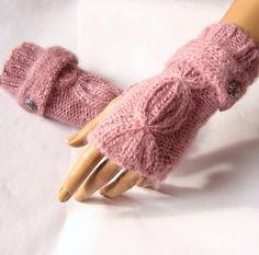 Hand Knit Gloves Fingerless mittens