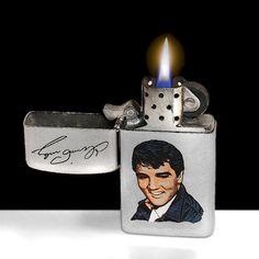 Elvis Presley Zippo Cigarette Lighter From 1987  by TonyArmato