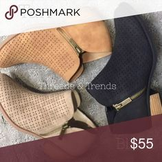 Arrives Next Week! Perforated Booties Black and Tan perforated booties. Featuring easy walking heel and zipper side closure. Only available in Black and Tan. This listing is for color Black. Separate listing for color Tan. Threads & Trends Shoes Ankle Boots & Booties