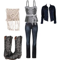 Untitled #6 by shannonevans1977 on Polyvore featuring polyvore fashion style Abercrombie & Fitch MiH Jeans CROSS Jeanswear 7 Chi Lucchese