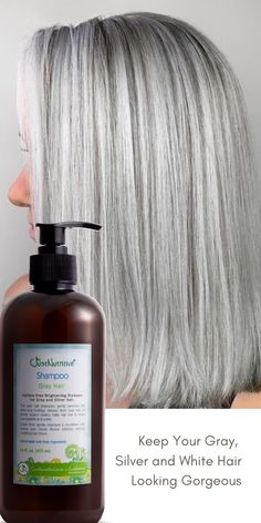 Help to achieve the perfect natural gray, silver, and white color!