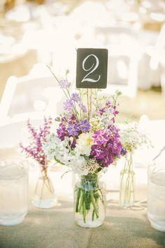 Numbers in flowers
