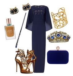 """Ravenclaw Yule Ball"" by vintage2modern ❤ liked on Polyvore featuring Ariella, Giuseppe Zanotti, WithChic, Estée Lauder, harrypotter, hogwarts, ravenclaw and yuleball"