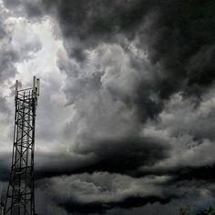 Cache Valley summer storm clouds #clouds #storm #tower #centeva #cachevalleyutah #cachevalley