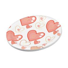 Multi-heart pattern paper plates