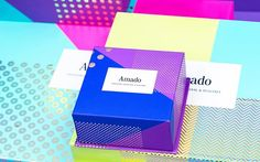 Visual identity and packaging based on different colors, graphics, and pattern.