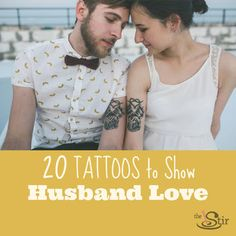 A lovely look at tattoo ideas for your one and only husband. http://thestir.cafemom.com/love_sex/163260/8_Best_Tattoos_That_Show