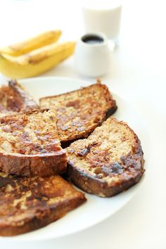 5 Ingredient VEGAN Banana French Toast! #vegan