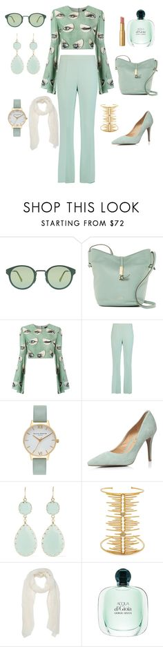 """Vert d'eau"" by liligwada ❤ liked on Polyvore featuring RetroSuperFuture, Vince Camuto, ADRIANA DEGREAS, Giambattista Valli, Olivia Burton, Dorothy Perkins, Kenneth Jay Lane, Joanna Laura Constantine and Too Faced Cosmetics"