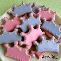 Sugar Dot Cookies: Sugar Cookies - Princess Crowns