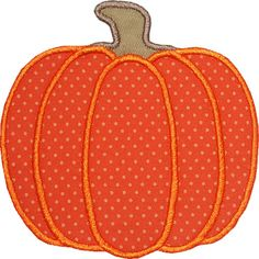 Free Pumpkin Applique Pattern | Harvest Pumpkin Applique Design