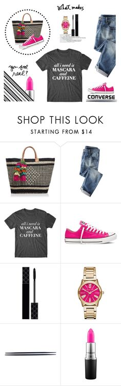 """What Makes You Feel Real?"" by idocoffee ❤ liked on Polyvore featuring Mar y Sol, Converse, Gucci, Michael Kors, MAC Cosmetics and Darice"