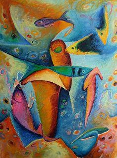 Celesa Lucien Art: Contemporary Art, Caribbean, Colorful Abstract Art...