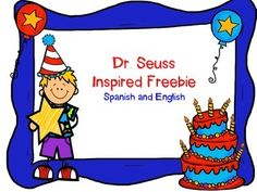 This unit is a freebie! Use it with your students to celebrate Dr. Seuss birthday! It is very open-ended so you can use it as you need to! It comes in both Spanish and English! Enjoy!