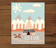 Rise & Shine Poster Print 8x10 by FrenchPressMornings on Etsy, $20.00