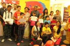 Judges & all the winners of Poster and Painting competition at DLF Place Saket