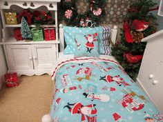 American Girl Doll Christmas lecho RibbonwoodCottage Por