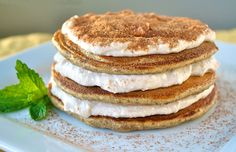These are NOT too good to be true! Tiramisu Pancakes are caffeinated AND have 46 grams of protein from cottage cheese.