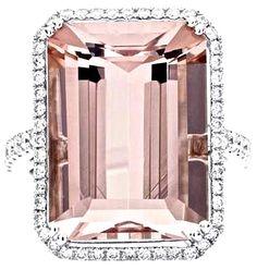 Champagne Topaz & Diamond Ring