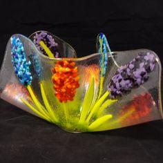Glass Art   Fused Art Glass Flower Vase - Spirits in the Wind Gallery
