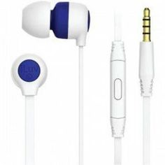 iLuv Talk S'More Premium Stereo Earphone with Mic & Remote Blue 3 Sizes Eartips