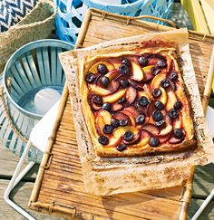 Summer Orchard Tart—This simple tart has a barely there pastry that allows summer's juiciest orchard fruits to shine. Serve with a dollop of whipped cream or a splash of Armagnac for a luxurious finish. Summer Desserts, No Bake Desserts, Dessert Recipes, Summer Treats, Summer Fruit, Tart Recipes, Cooking Recipes, Muffin Recipes, Sweet Pie