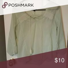 American Eagle 3/4 Sleeve Shirt Shirt is in EUC. It is see through material. Tops