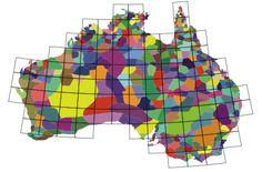 Map of Australia's 4