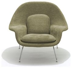 knoll kids - Medium Womb Chair - Grade W Leather - modern - kids chairs - 2Modern