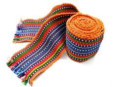 FREE SHIPPING - VINTAGE: 1980's - Boho Hipster Guatemala Woven Faja - 100% Cotton - Traditional - Sash - Native Belt - (20-B1-00003724)
