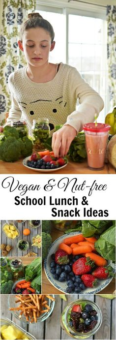 Time to make school lunches again! This post will help you! With 40+ ideas for vegan and nut-free school lunches and snacks - great for work too!