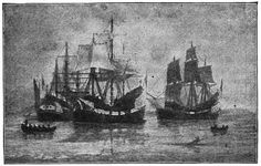 1630 - Winthrop Fleet to Massachusetts Bay Colony - The Winthrop Fleet was a group of 11 ships led by John Winthrop that carried about 1000 Puritans plus livestock and provisions from England to New England over the summer of 1630.
