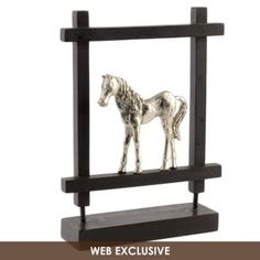 Framed Pony Statue    Concept Candie Interiors now offers virtual online interior decorating services for only $200 per room. #ecommerce #homedecor #interiordesign