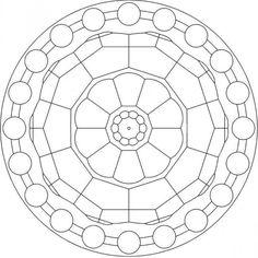Desenho de Mandala para Colorir e Imprimir…
