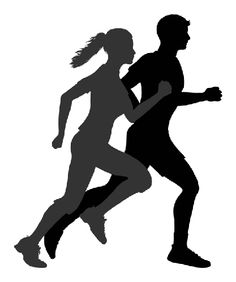 Running Silhouette Jogging , running man, silhouette of man and woman running illustration PNG clipart Running Silhouette, Silhouette Clip Art, Running Clipart, Cardio, 7 Minute Workout, Morning Activities, Weight Loss Blogs, Drug Free, Running Man