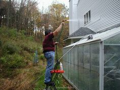 Bubble wrap insulation for winterizing a greenhouse -- Inexpensive but effective